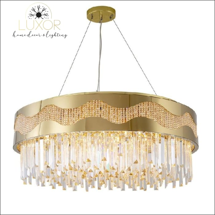 chandeliers Ganda Gold Crystal Chandelier - Luxor Home Decor & Lighting