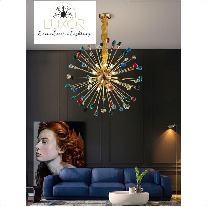 pendant lighting Royalton Round Sparkle Pendant - Luxor Home Decor & Lighting