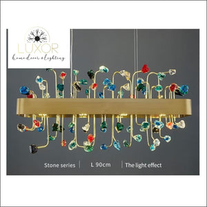 chandeliers Royalton Rectangle Modern Color Crystal Chandelier - Luxor Home Decor & Lighting