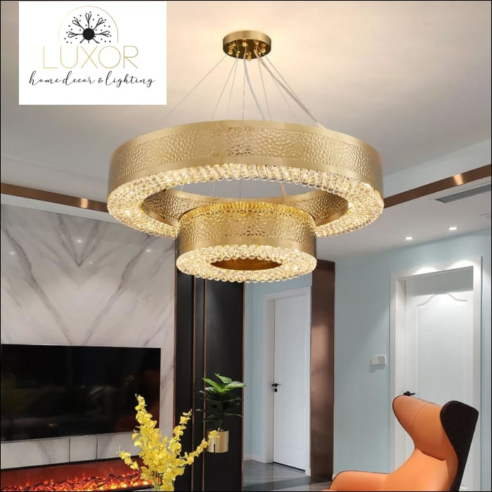 Lombady Gold Crystal Chandelier - chandeliers