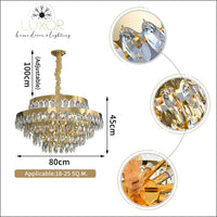 chandelier Mykonos Crystal Chandelier - Luxor Home Decor & Lighting