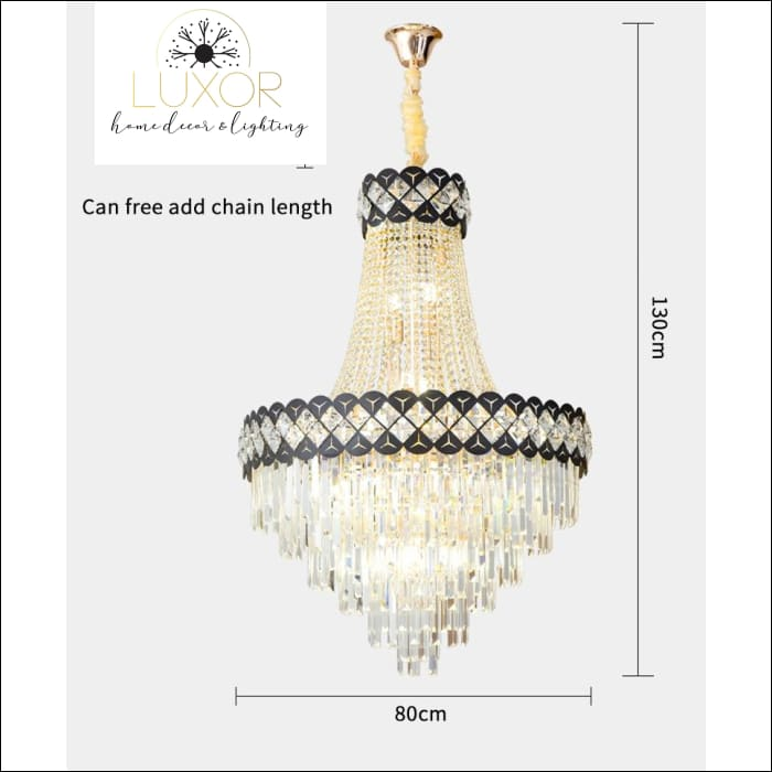 chandeliers Fletcher Crystal Lux Chandelier - Luxor Home Decor & Lighting