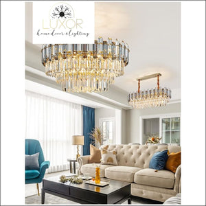 chandeliers Lumi Smokey Crystal Chandelier - Luxor Home Decor & Lighting