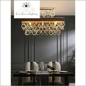 chandeliers Scarlet Rectangle Crystal Chandelier - Luxor Home Decor & Lighting