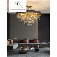 chandeliers Scarlet Round Crystal Chandelier - Luxor Home Decor & Lighting