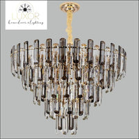 Salerma Crystal Chandelier - Smoky grey and clear / Dia80x55cm / Cool light(6000K) - chandeliers