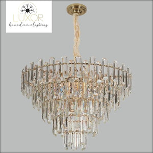 Salerma Crystal Chandelier - Clear crystal / Dia80x55cm / Cool light(6000K) - chandeliers