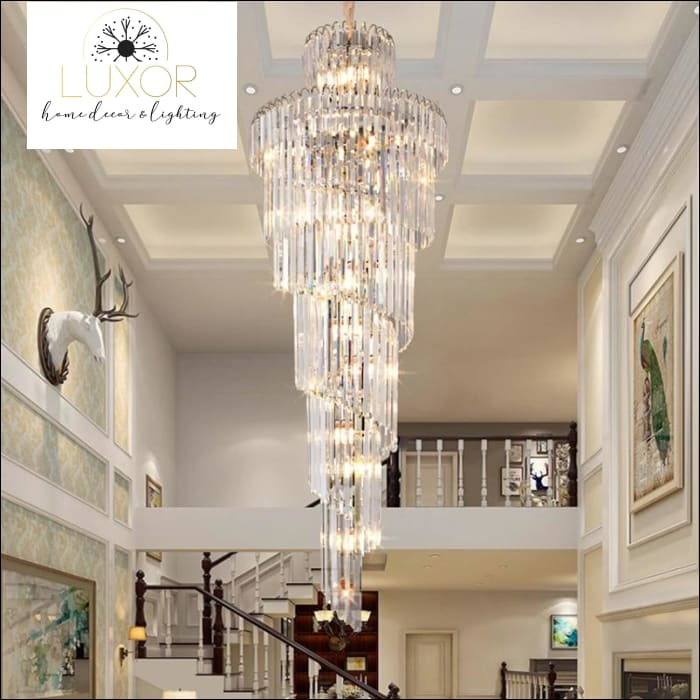 Covertry Crystal Luxury Staircase Chandelier - chandeliers