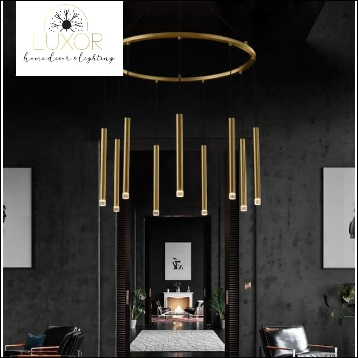Elena Spiral Chandelier - dia80xH45cm 9 lights / >7 / 51-60W, L, Warm White - chandeliers