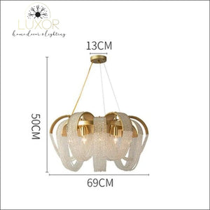 chandeliers Pleny Lux Mesh Crystal Chandelier - Luxor Home Decor & Lighting