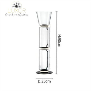 Petunia Dome Collection - Floor Lamp - Dia35cm x H 90cm / Smokey Glass - lighting