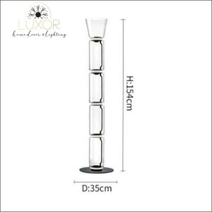 Petunia Dome Collection - Floor Lamp - Dia35cm x H154cm / Smokey Glass - lighting