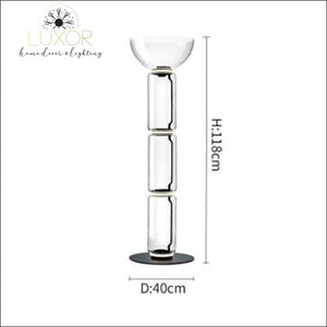Petunia Dome Collection - Floor Lamp - Dia40cm x H118cm / Smokey Glass - lighting