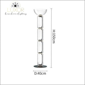 Petunia Dome Collection - Floor Lamp - Dia40cm x H150cm / Smokey Glass - lighting