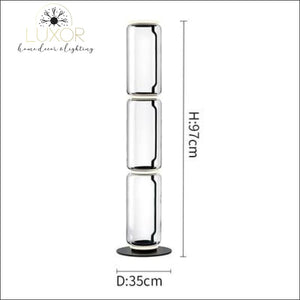 Petunia Dome Collection - Floor Lamp - Dia35cm x H97cm / Smokey Glass - lighting