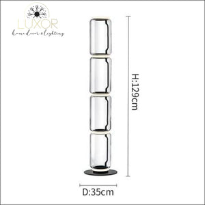 Petunia Dome Collection - Floor Lamp - D35cm x H129cm / Clear Glass - lighting