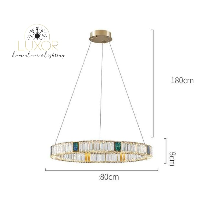 Bryony Crystal Chandelier - Dia80xH8cm / Cold White - chandelier