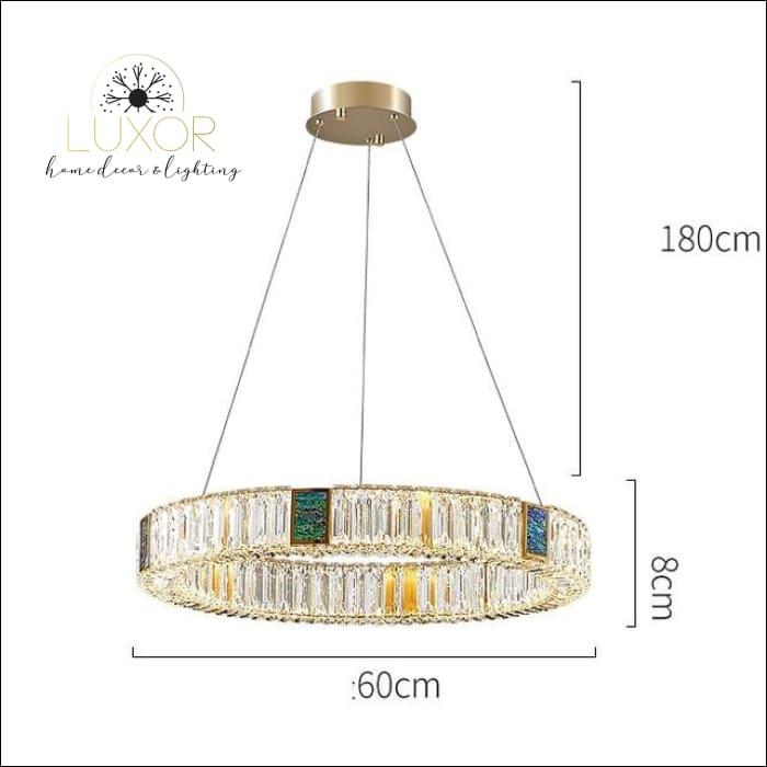 Bryony Crystal Chandelier - Dia60xH8cm / Cold White - chandelier
