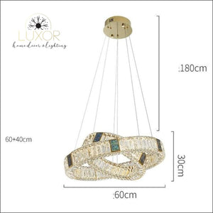 Bryony Crystal Chandelier - Dia60cm 40cm / Cold White - chandelier