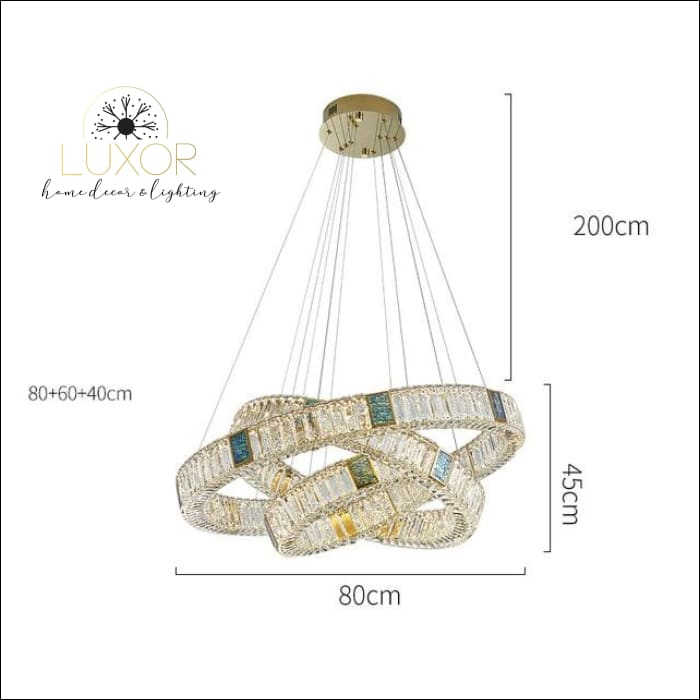 Bryony Crystal Chandelier - Dia80cm 60cm 40cm / Cold White - chandelier