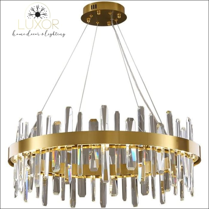 Kalina Crystal Chandelier - D80xH30cm / Warm White - chandelier