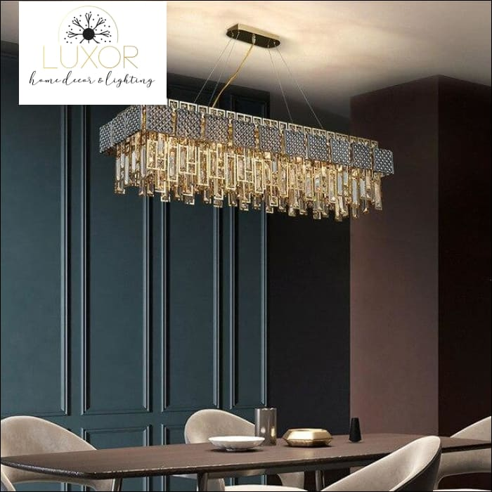 Monrose Crystal Chandelier - L90xw30xH35cm / >7 / Warm White - chandeliers