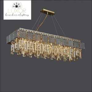 Monrose Crystal Chandelier - L110xW35xH35cm / >7 / Warm White - chandeliers