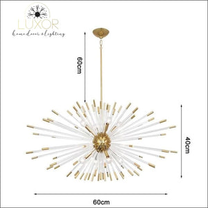Stroby Spike Chandelier - L60xW40cm / Warm light 3000K - chandeliers