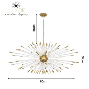 Stroby Spike Chandelier - L80XW50cm / Warm light 3000K - chandeliers