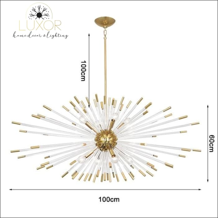 Stroby Spike Chandelier - L100XW60cm / Warm light 3000K - chandeliers
