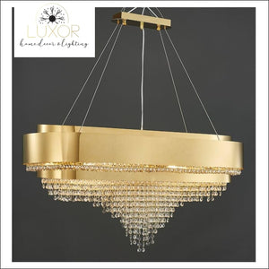 Levine Gold Crystal Chandelier - chandeliers