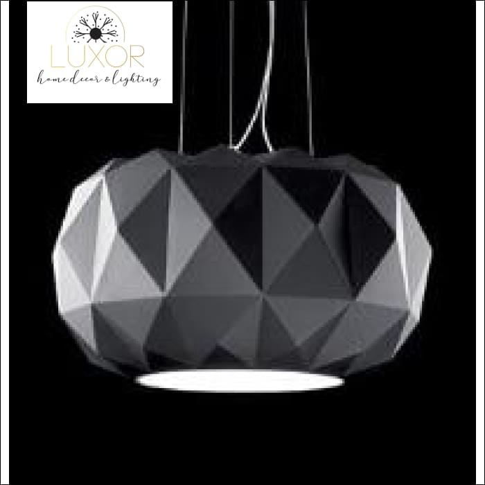 Modernismo Glass Pendant Lamp - BLACK / 40 cm - pendant lighting