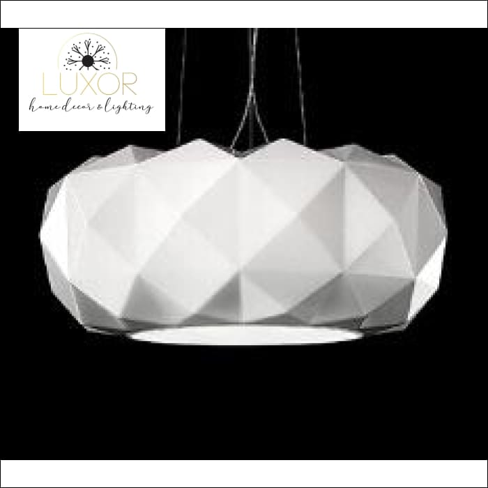Modernismo Glass Pendant Lamp - WHITE / 50 cm - pendant lighting