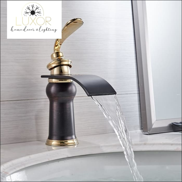 faucets Waterfall Modern Bathroom Faucet - Luxor Home Decor & Lighting