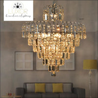 chandeliers Peri Crystal Lux Chandelier - Luxor Home Decor & Lighting