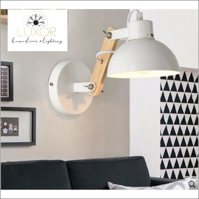 Winston Nordic Wooden LED Sconce - White - wall lighting