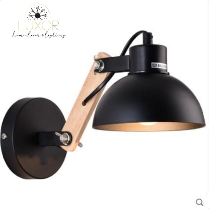 Winston Nordic Wooden LED Sconce - Black - wall lighting