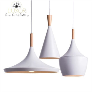 White Palm Hanging Lampshade - pendant lighting