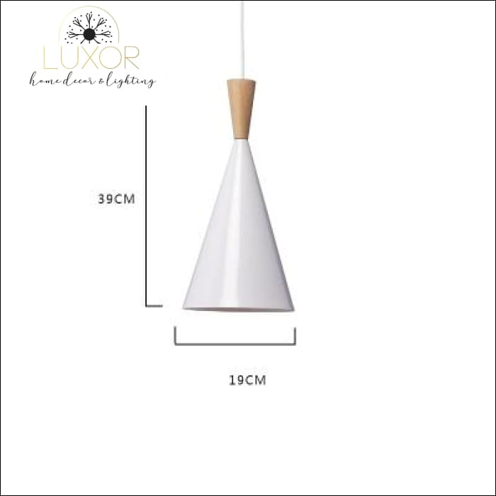 White Palm Hanging Lampshade - Small - 39 x 19 - pendant lighting