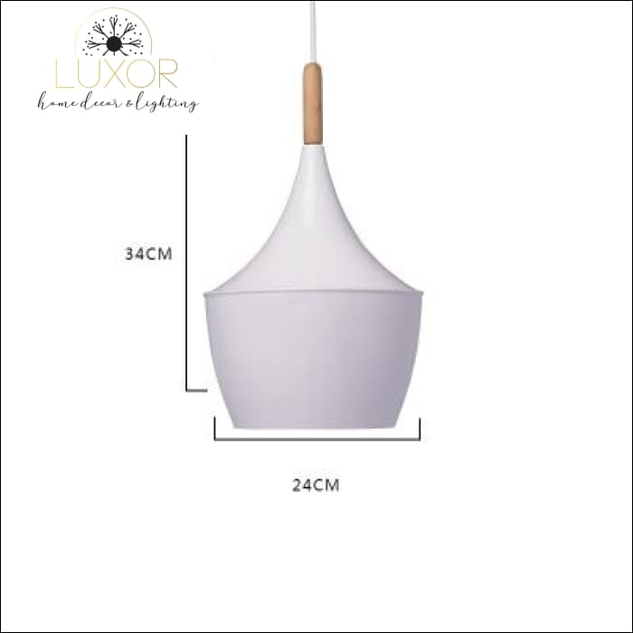 White Palm Hanging Lampshade - Medium - 34 x 24 - pendant lighting