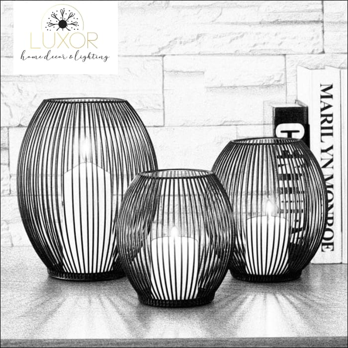 Ernest Metal Hollow Out Lanterns - decorative objects