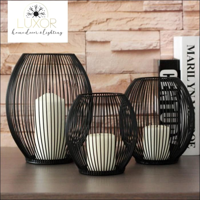 decorative objects Ernest Metal Hollow Out Lanterns - Luxor Home Decor & Lighting