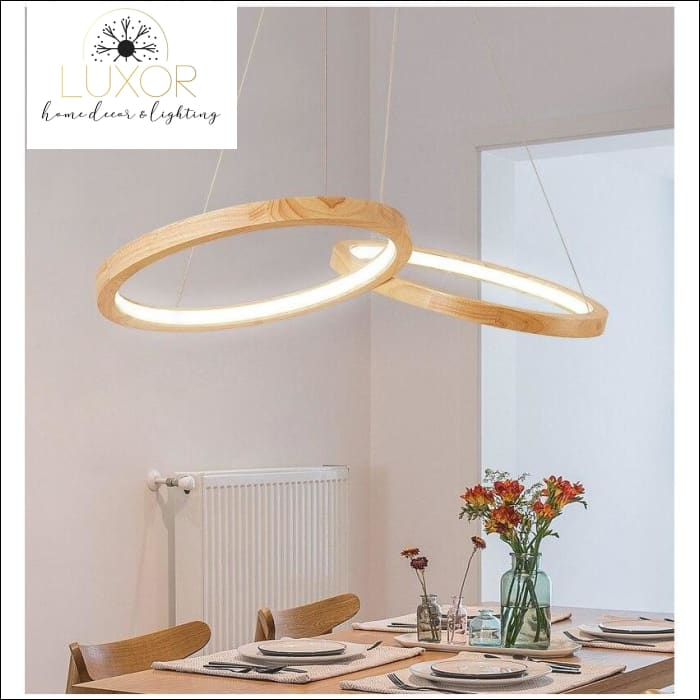 Orly Wooden LED Chandelier - pendant lighting
