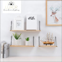 wall decor Scandinavian Metal Wooden Shelf - Luxor Home Decor & Lighting