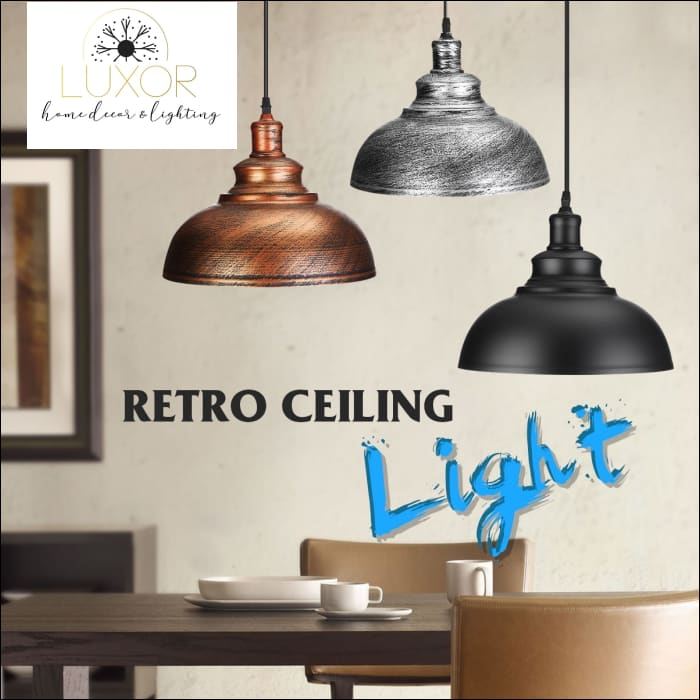 Edison Vintage Industrial Pendant Light - pendant lighting