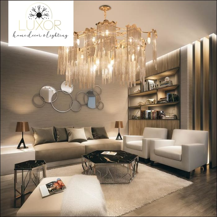 chandeliers Memento Tassel Chandeliers - Luxor Home Decor & Lighting
