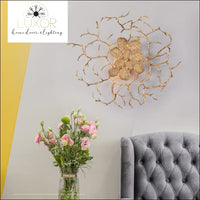Gold Leaf Wall Sconce - wall lighting