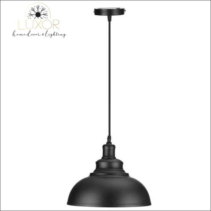 Edison Vintage Industrial Pendant Light - Black - pendant lighting