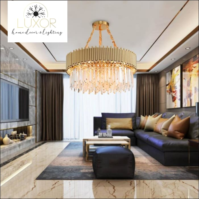 Youlanis Gold Crystal Chandelier - chandelier