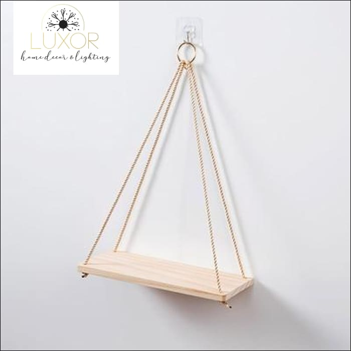 Christo Hanging Rope Shelf Planter Storage Rack - 35CM - wall decor